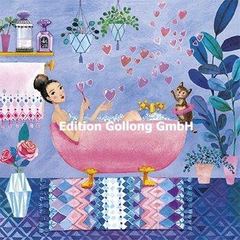 Mila Marquis Postcard | Woman in bathtub