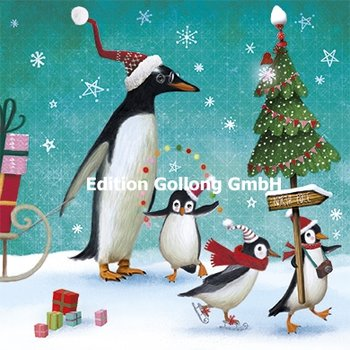 Mila Marquis Postcard Christmas | Penguins at the North Pole