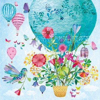 Mila Marquis Postcard | Hot air balloon with flowers
