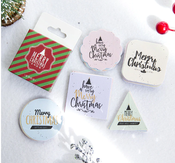 Sticker Flakes Box | Merry Christmas