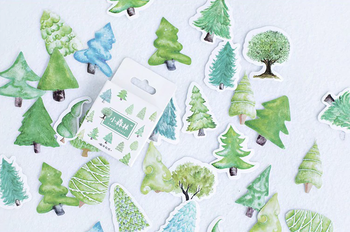 Sticker Flakes Box | Small Forest