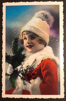 Oud Hollandse Postkaart | Kerstengel