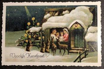 Oud Hollandse Postkaart | Vrolijk Kerstfeest
