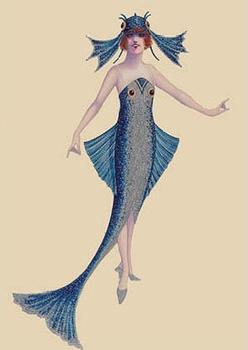Postcard | Blue Fish Costume