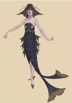 Postcard | Black Fish Costume