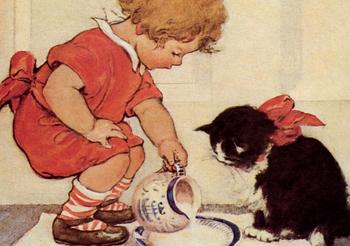 Postcard | Milk for Kitty