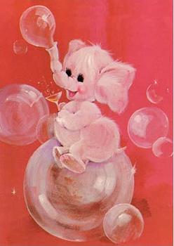 Postcard | Fab 70s Elephant