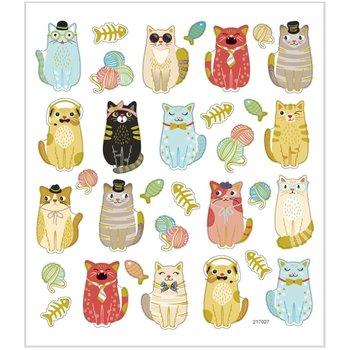 Seal Sticker with Glitter Foil | Funny Cats