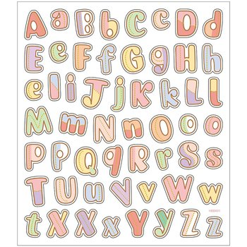 Seal Sticker mit Glitzerfolie | Alphabet