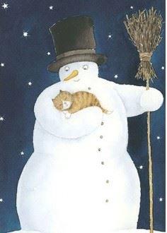 Hjelm Förlag Postcard | snögubben (Snowman)