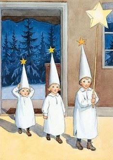 Elsa Beskow Postcard | stjärngossarna (Star boys)
