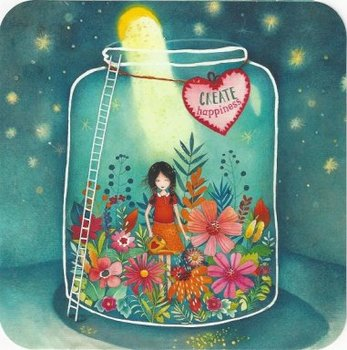 Mila Square Postcard | Create Happiness