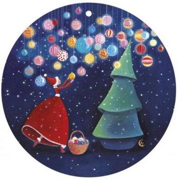Round Christmas Postcard Marie Cardouat | C'est Noël