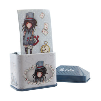 Gorjuss The Hatter Trinket Tin with Sticker Roll