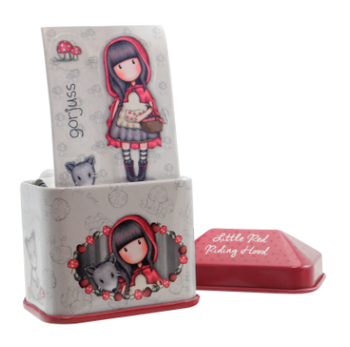 Gorjuss Little Red Riding Hood Trinket Tin with Sticker Roll