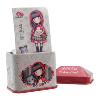Gorjuss Little Red Riding Hood Trinket Tin with Sticker Roll