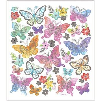 Seal Sticker met zilverfolie | Vlinders