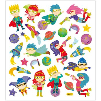 Seal Sticker with Gold Foil | Superheros