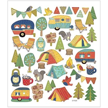 Seal Sticker met Goudfolie | camping