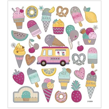 Seal Sticker with Silver Foil | Icecream