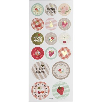 Round Seal Sticker with Glitter Foil | Handmade