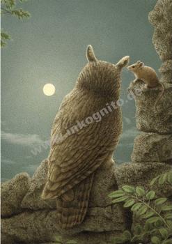 Inkognito Postcard | Maus und Eule