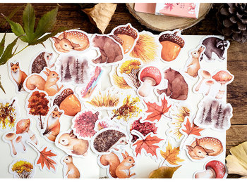 Sticker Flakes Box | Forest Animals & Decorations