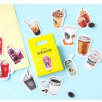 Sticker Flakes Box | Mini Drinks