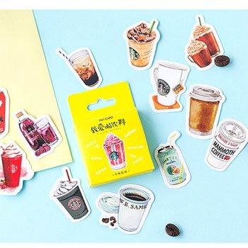 Sticker Flakes Box   Mini Drinks