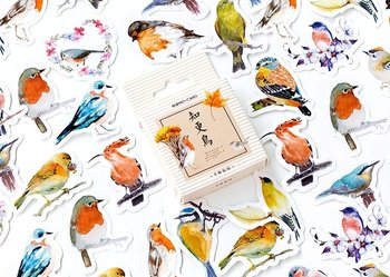 Sticker Flakes Box | Robins and other Birds