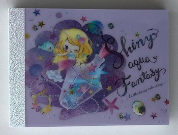 Q-Lia Mini Memo Pad Little Fairy Tale | Shiny Aqua Fantasy