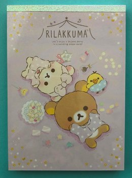 San-X Rilakkuma Large Memo Pad | Pajamas Party