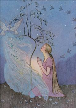 Postcard | Cinderella, Grimm's Fairy Tales, 1920