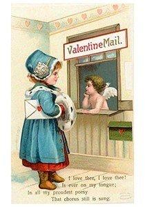 Victorian Valentine Postcard | A.N.B. - Valentine mail