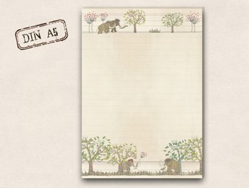 A5 Letter Paper Pad TikiOno | Mammoths