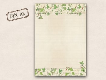 A5 Letter Paper Pad TikiOno | Wild strawberries