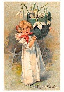 Victorian Postcard | A.N.B. - A joyful easter
