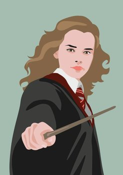 Pop Art Postcard | Hermine Granger