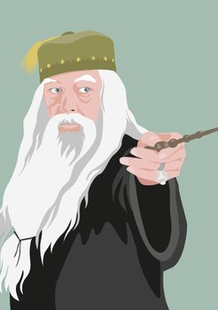 Pop Art Postcard | Albus Dumbledore