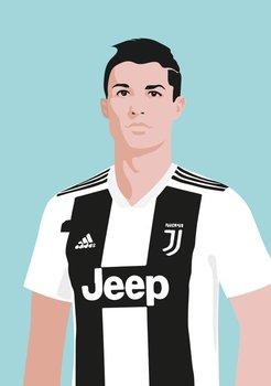 Pop Art Postcard | Cristiano Ronaldo - Juventus Turin