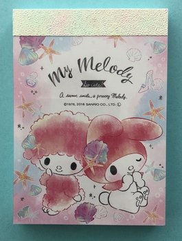 Sanrio Kawaii Mini Memo Pad | My Melody Shells