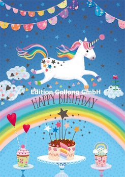 Mila Marquis Double Card | Happy Birthday - Unicorn