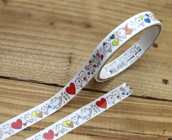 White Bear Medium Adhesive PVC Deco Tape | Hearts