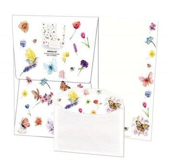 Writing Set | Vlinders & bloemen, Michelle Dujardin