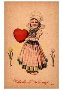 Victorian Valentine Postcard | A.N.B. - Valentine's greetings