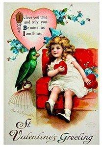 Victorian Valentine Postcard | A.N.B. - St. Valentine's Greeting