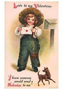 Victorian Valentine Postcard | A.N.B. - Love to my valentine