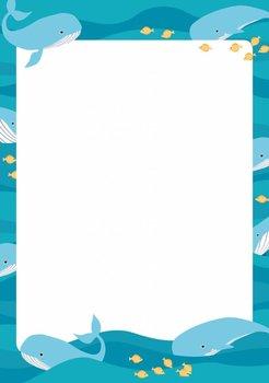 A5 Letter Paper Pad crissXcross | Whale