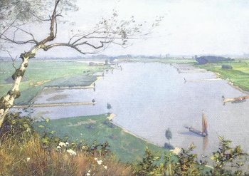 Museum Cards Postcard | The Rhine River from the Wageningse Berg, Hendrik Jan Wolter