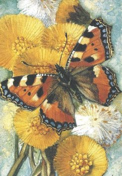 Museum Cards Postcard | Coltsfoot and Small Tortoiseshell, Henricus Rol